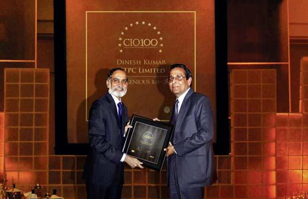 The Ingenious 100: Dinesh Kumar, Executive Director (IT) of NTPC receives the CIO100 Award for 2009