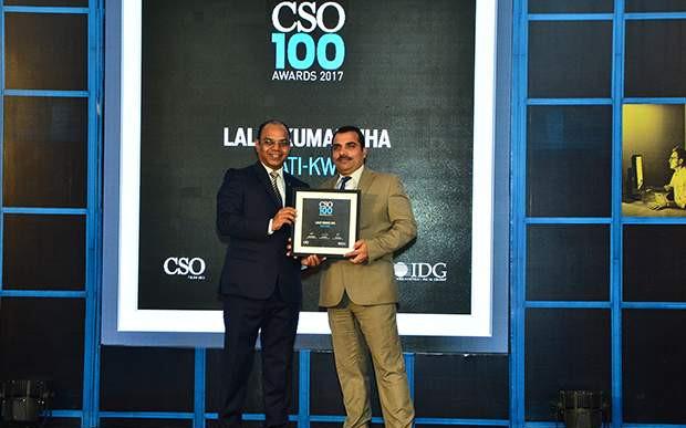 Lalit Kumar Jha, DGM-IT of Gati-KWE receives CSO100 Award for 2017