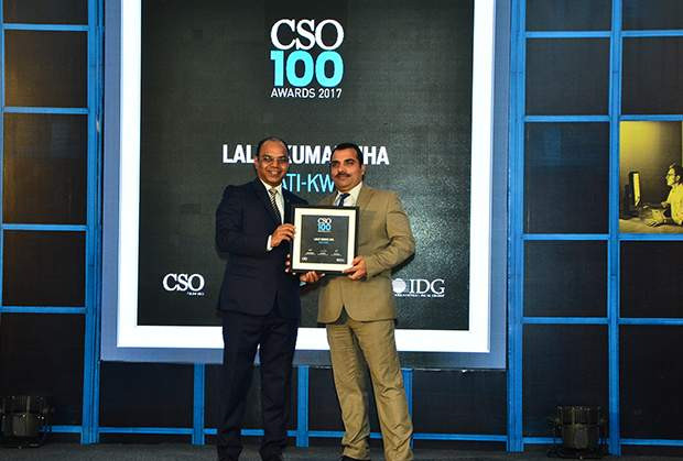 Lalit Kumar Jha, DGM-IT of Gati-KWE receives CSO100 Award for 2017