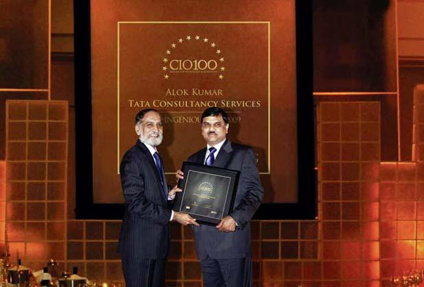 The Ingenious 100: Alok Kumar, VP & Global Head - Internal IT and Shared Services of Tata Consultancy Services receives the CIO100 Award for 2009