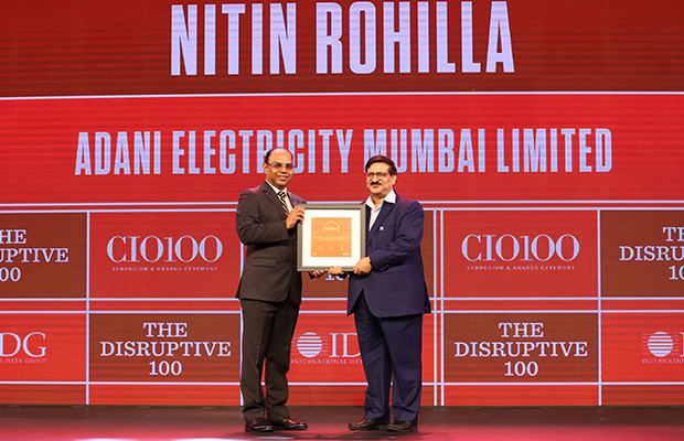 The Disruptive 100: Nitin Kumar Rohilla, Vice President – IT, Adani Electricity receives the CIO100 Award for 2019