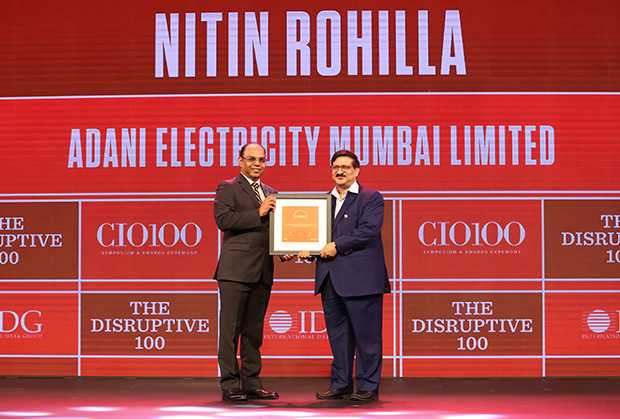 The Disruptive 100: Nitin Kumar Rohilla, Vice President – IT, Adani Electricity receives the CIO100 Award for 2019