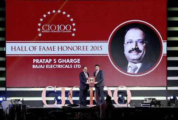 Hall of Fame: Pratap S Gharge, President and CIO of Bajaj Electricals receives the CIO100 Special Award for 2015.
