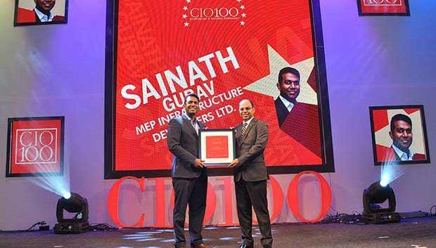 The Transformative 100: Sainath Gurav, Director Subsidiary and CIO of MEP Infrastructure Developers receives the CIO100 Award for 2016