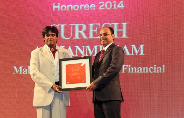 The Dynamic 100: Suresh A Shanmugam, Head - Business IT, Mahindra & Mahindra Financial receives the CIO100 Award for 2014.
