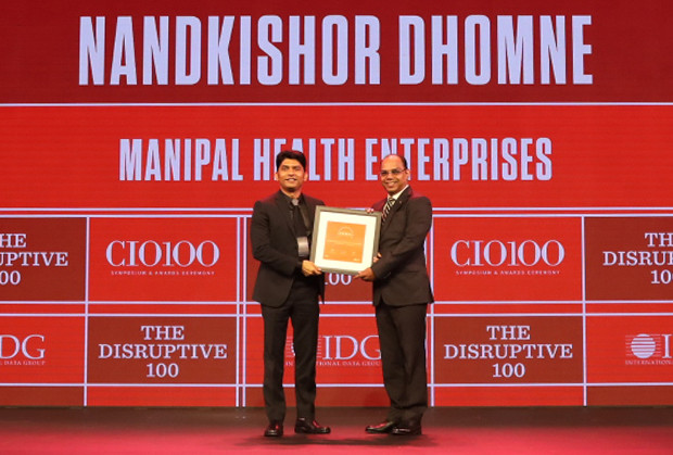 The Disruptive 100: Nandkishor Dhomne, VP-IT and CIO, Manipal Health Enterprises receives the CIO100 Award for 2019