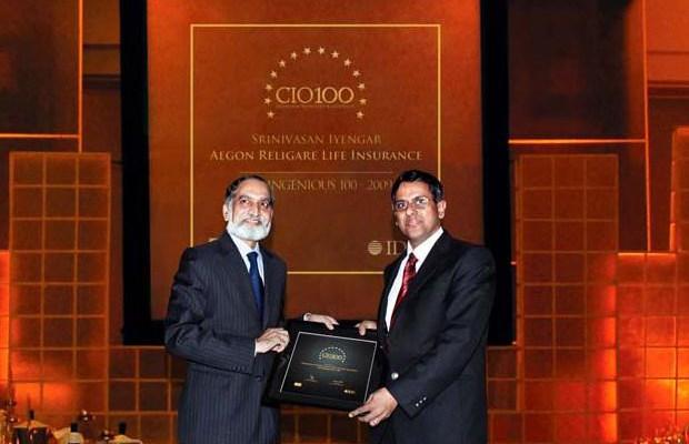 The Ingenious 100: Srinivasan Iyengar, COO of Aegon Religare Life Insurance receives the CIO100 Award for 2009