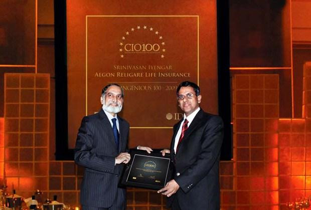 The Ingenious 100: Srinivasan Iyengar, COO of Aegon Religare Life Insurance receives the CIO100 Award for 2009