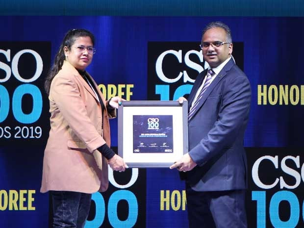 Dr. Lopa Mudraa Basuu, Global Head Cyber Security Risk Governance & Compliance at NISSAN Motor Corporation receives the CSO100 Award for 2019