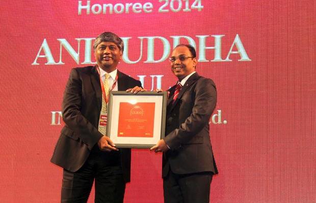 The Dynamic 100: Aniruddha Paul, CIO at ING Vysya Bank receives the CIO100 Award for 2014.