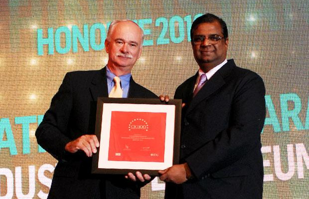 The Resilient 100: S T Sathiavageeswaran, Executive director - IS of Hindustan Petroleum receives the CIO100 Award for 2012
