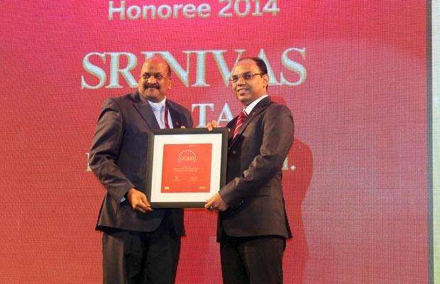 The Dynamic 100: Srinivas Tata, CIO-Project Business Group, Essar Projects India, receives the CIO100 Award for 2014