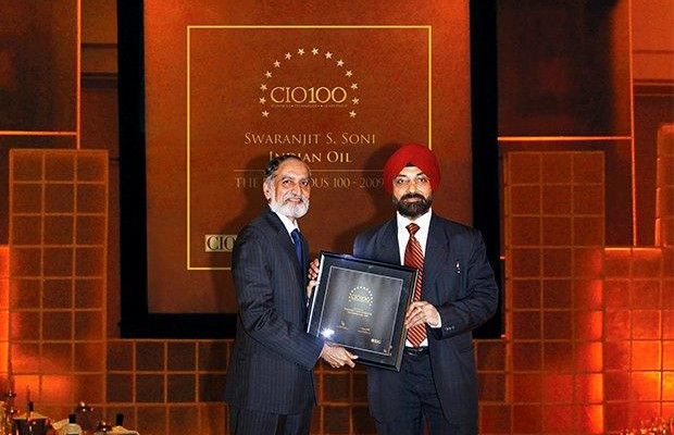 The Ingenious 100: Swaranjit S Soni, CIO at Indian Oil Corporation (IOCL) receives the CIO100 Award for 2009