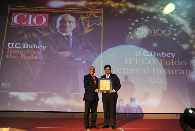 The Creative 100: U C Dubey, Executive Director-IT at Iffco Tokio General Insurance Company (IFFCO) receives the CIO100 Award for 2011
