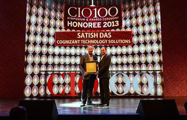 The Astute 100: Satish Kumar Das, CSO & VP, Cognizant Technology Solutions India receives the CIO100 Award for 2013.