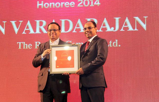 The Dynamic 100: N Vardharajan, AVP IT, The Ramco Cements receives the CIO100 Special Award for 2014