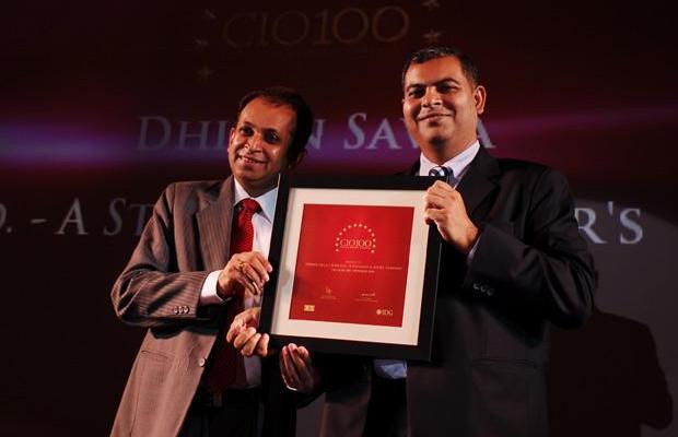 The Agile 100: Dhiren Savla, CIO of Crisil receives the CIO100 Award for 2010