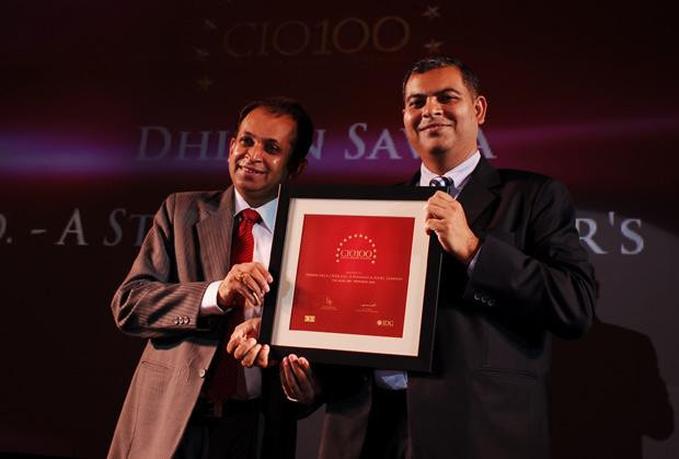 The Agile 100: Dhiren Savla, CIO of Crisil receives the CIO100 Award for 2010