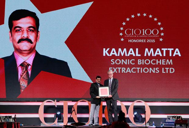 The Versatile 100: Kamal Matta, CIO and CSO at Sonic Biochem receives the CIO100 Award for 2015