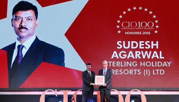 The Versatile 100: Sudesh Agarwal, CIO of Sterling Holiday Resorts India receives the CIO100 Award for 2015