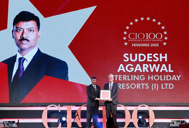 The Versatile 100: Sudesh Agarwal, CIO of Sterling Holiday Resorts India receives the CIO100 Award for 2015