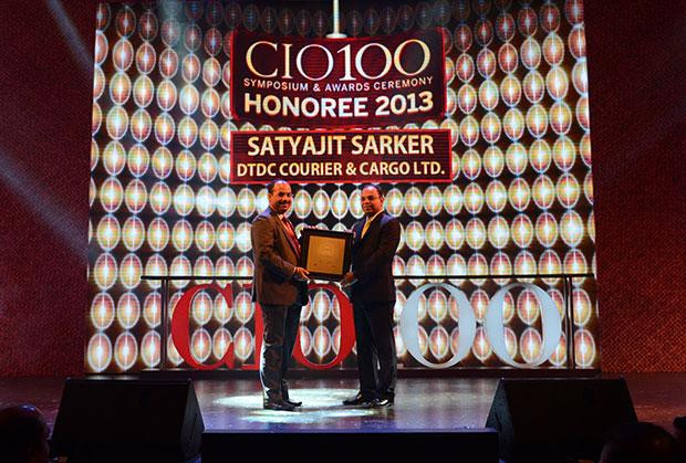 The Astute 100: Satyajit Sarker, GM-IT of DTDC Courier & Cargo receives the CIO100 Award for 2013