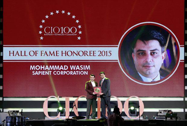 Hall of Fame: Mohammad Wasim, Director & Global Infrastructure Lead, Sapient Corporation receives the CIO100 Special Award for 2015