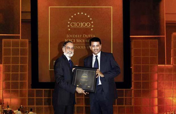 The Ingenious 100: Joydeep Dutta, CTO at ICICI Securities receives the CIO100 Award for 2009