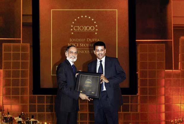 The Ingenious 100: Joydeep Dutta, CTO at ICICI Securities receives the CIO100 Award for 2009