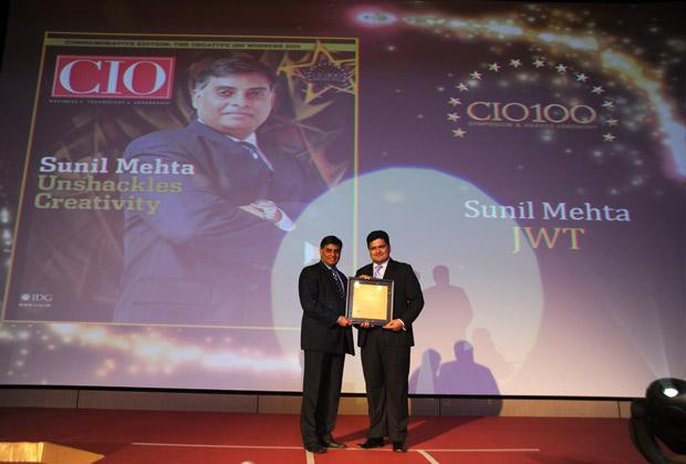 The Creative 100: Sunil Mehta, Sr. VP - Area Systems Director (Central Asia), JWT India receives CIO100 Award for 2011