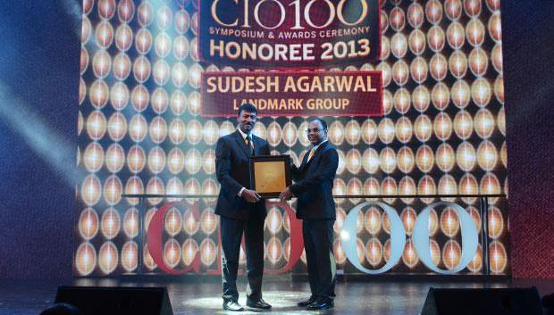 The Astute 100: Sudesh Agarwal, CIO of Landmark Group receives the CIO100 Award for 2013