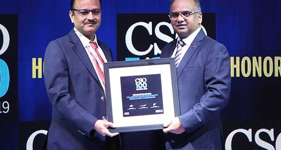Umakanta Panda, CIO & Joint Director (Information Technology) of Telangana State Electricity Regulatory Commission receives the CSO100 Award for 2019