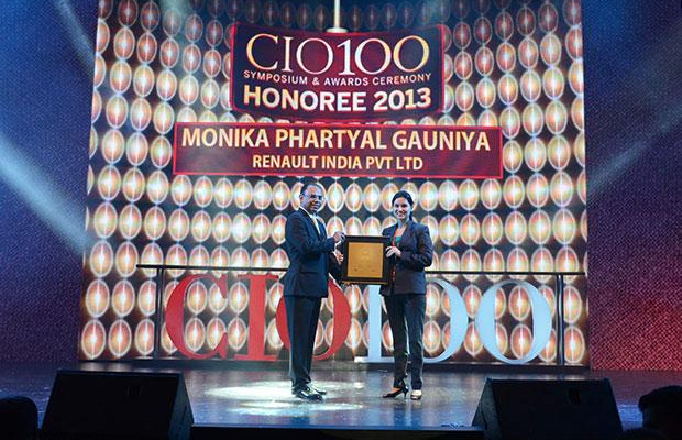 The Astute 100: Monika Phartyal, Head IS & IT of Renault India receives the CIO100 Award for 2013