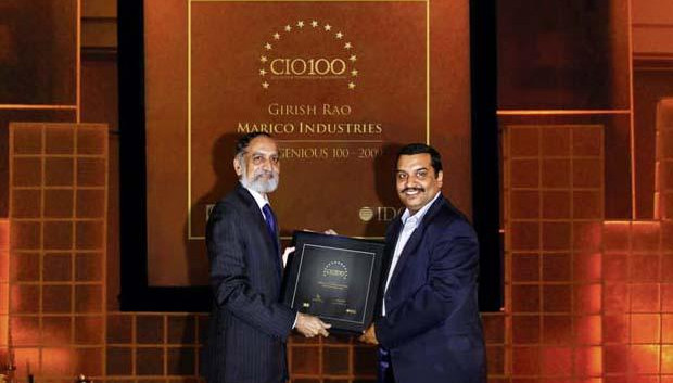 The Ingenious 100: Girish Rao, Head IT of Marico receives the CIO100 Award for 2009