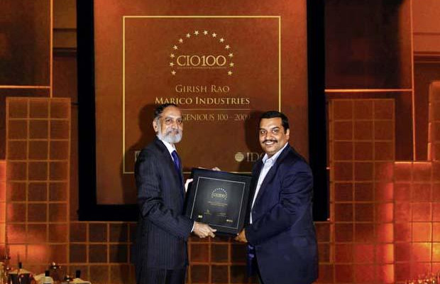 The Ingenious 100: Girish Rao, Head IT of Marico receives the CIO100 Award for 2009