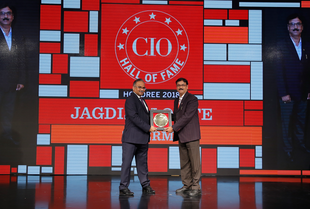 Hall of Fame: Jagdish Lomte, Vice President & CIO– BTG at Thermax receives the CIO100 Special Award for 2018