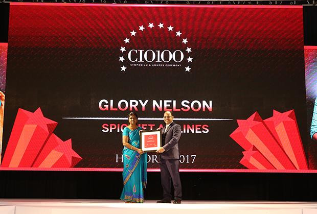 The Digital Innovators: Glory Nelson, Senior VP-IT of SpiceJet receives the CIO100 Award for 2017