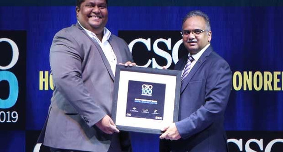 Rohit Rane, Head - Information Security at Nayara Energy receives the CSO100 Award for 2019