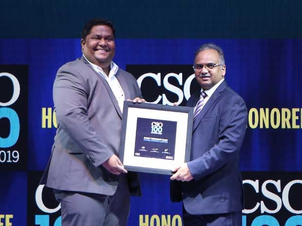 Rohit Rane, Head - Information Security at Nayara Energy receives the CSO100 Award for 2019