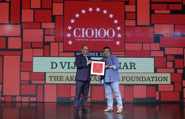 The Digital Architect: D Vijay Kumar, Director–IT at The Akshayapatra Foundation receives the CIO100 Award for 2018