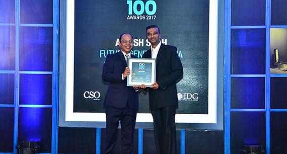 Ashish Shah, CISO, Future Generali India Life Inurance receives the CSO100 Award for 2017.