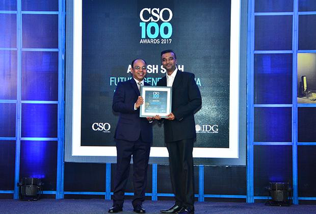 Ashish Shah, CISO, Future Generali India Life Inurance receives the CSO100 Award for 2017.