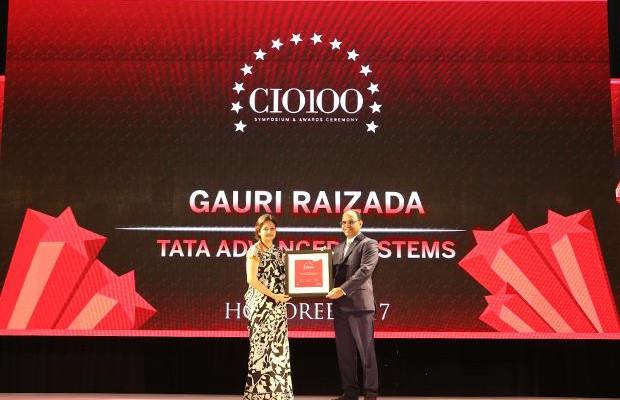 The Digital Innovators: Gauri Raizada, Head – Information Technology, Tata Advanced Systems receives the CIO100 Award for 2017
