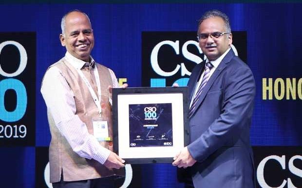 S Sridharan, CISO at NCDEX receives the CSO100 Award for 2019