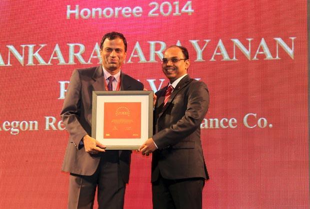 The Dynamic 100: Sankaranarayanan Raghavan, COO of Aegon Religare Life Insurance receives the CIO100 Award for 2014