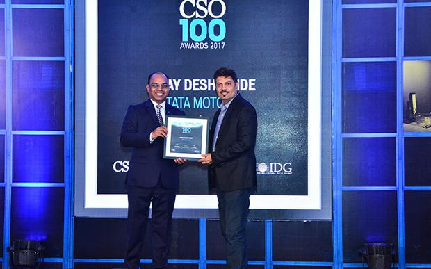 Uday Deshpande, Chief Information Security Officer, Tata Motors receives the CSO100 Award for 2017.