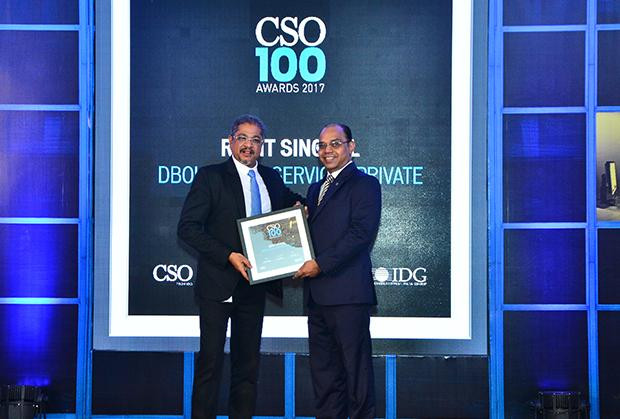 Rohit Singhal, Vice President,Information Security, Deutsche Bank receives the CSO100 Award for 2017.
