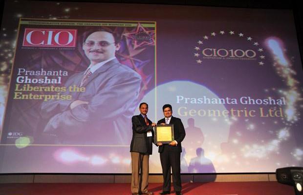 The Creative 100: Prashanta Ghoshal, Director ITES of Geometric receives the CIO100 Award for 2011