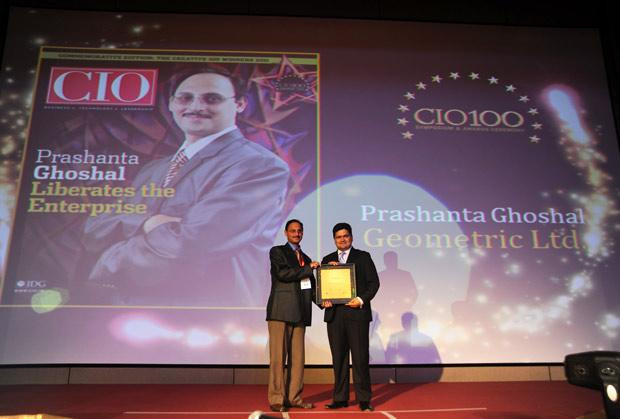 The Creative 100: Prashanth M J, CTO, Firstsource Solutions receives the CIO100 Award for 2011.