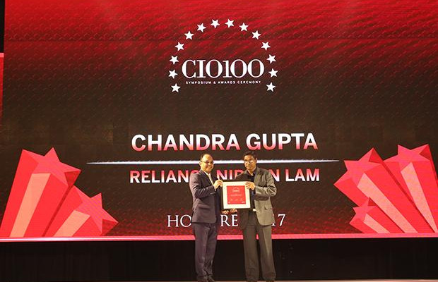 The Digital Innovators: Chandra Gupta, CTO at Reliance Nippon Life Asset Management receives the CIO100 Award for 2017